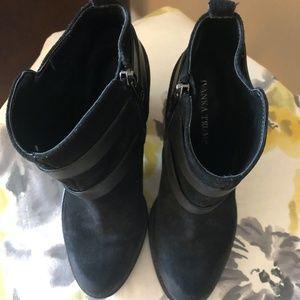 """Ivanka Trump Shoes - Ivanka Trump""""Filoer"""" Black Suede Booties"""